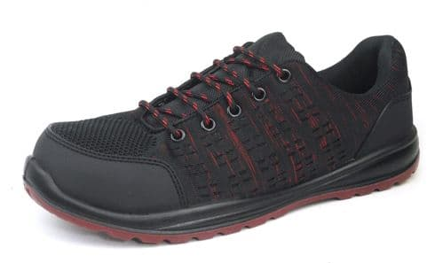 Hard Edge 2829 Safety / Work Red Black Trainers